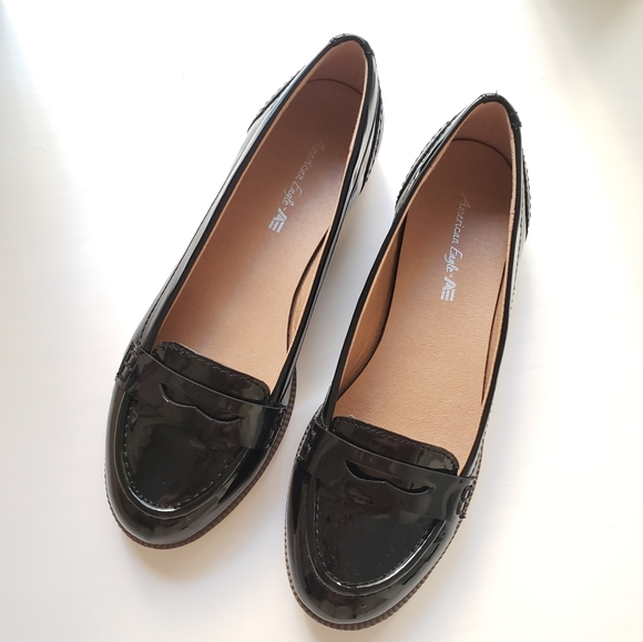 Like New Black Patent Loafer Flats 6.5
